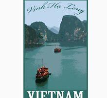 Vinh Ha Long (Ha Long bay) Vietnam Retro Travel Poster Unisex T-Shirt