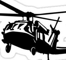 Black Hawk Helicopter Sticker