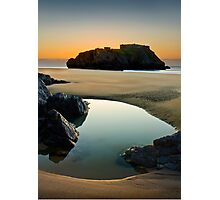 St Catherine's Island, Tenby, Pembrokeshire Photographic Print