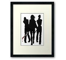Pet Walkers Framed Print