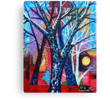 'Trees in an Abstract Sunset' Canvas Print