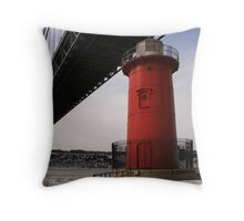 Little Red Lighthouse & The Great Gray Bridge Throw Pillow
