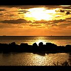Sunset on Grand Bahama Island by Matt Becker