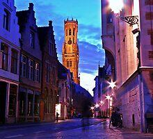 Wollestraat, Brugge by Matt Becker
