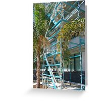 Scaffold and Palms Greeting Card