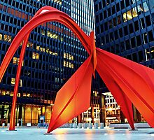 Calder's Flamingo by Matt Becker