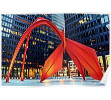Calder's Flamingo Poster