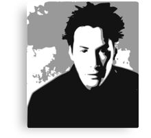 Keanu Reeves in the Matrix, Grey Color Canvas Print