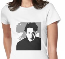 Keanu Reeves in the Matrix, Grey Color Womens Fitted T-Shirt
