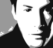 Keanu Reeves in the Matrix, Grey Color Sticker
