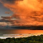 Fire in the Sky, The Great Ocean Road by Christine Smith