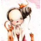Madelyn and her cats by Femke Nicoline Muntz