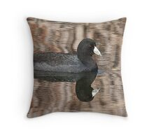 Coot And Reflexion Throw Pillow