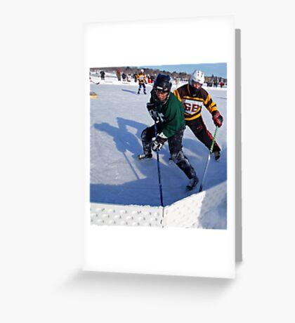 Pond Hockey - Hockey Players Greeting Card