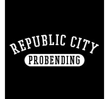 Republic City Probending (White on Black) Photographic Print