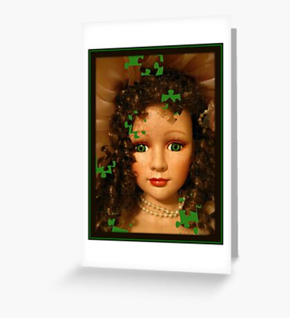Doll Puzzle Greeting Card