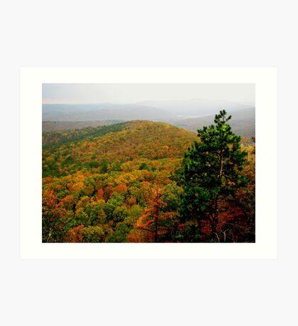 Arkansas Ozarks Rolling Hills Art Print