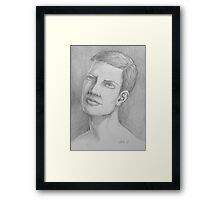 Male drawing  Framed Print