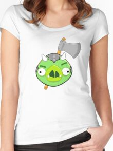 Angry Birds Vs. Gamorreans Women's Fitted Scoop T-Shirt