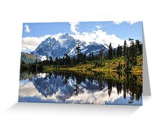 Mt. Shuksan, Picture Lake Greeting Card