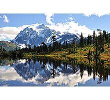 Mt. Shuksan, Picture Lake Photographic Print