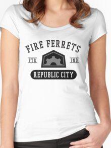 Republic City's Fire Ferrets (Black) Women's Fitted Scoop T-Shirt