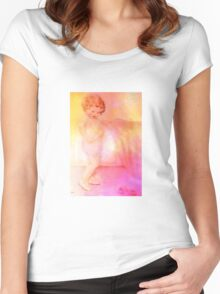 FIRST CHORE OF THE DAY Women's Fitted Scoop T-Shirt