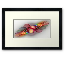 'Light Flame Abstract 108' Framed Print