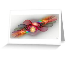 'Light Flame Abstract 108' Greeting Card