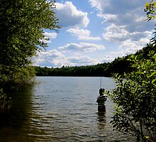 Fishing in Walden Pond by Rae Breaux