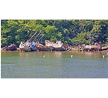 Boat Graveyard - Finistere Brittany France Photographic Print