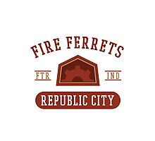 Republic City's Fire Ferrets (Red) Photographic Print