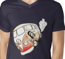 combie hippie Mens V-Neck T-Shirt