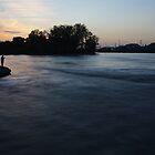Fishing at Sunset by Richard Williams