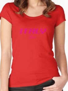 ITALY GIRL Women's Fitted Scoop T-Shirt