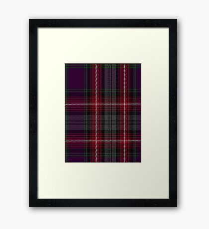 00370 Isle of Arran Fashion Tartan  Framed Print