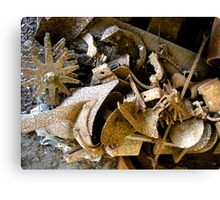 """""""Miscellaneous Rusty Shapes"""" Canvas Print"""
