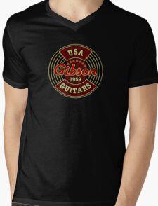 Vintage Gibson Guitars 1959 Mens V-Neck T-Shirt