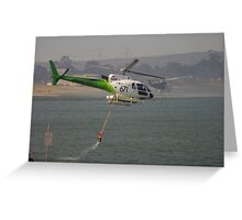 Fire Helicopters 'Black Sunday' Greeting Card