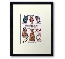 Pregnancy: Cupboard Bear on What to Wear Framed Print