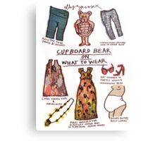 Pregnancy: Cupboard Bear on What to Wear Metal Print