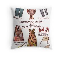 Pregnancy: Cupboard Bear on What to Wear Throw Pillow