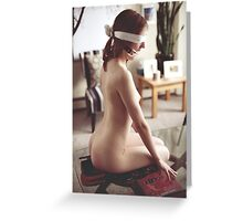 Centerpiece - nude sexy erotic beautiful girl perfect love nature crazy kinky fantasy valentine Greeting Card