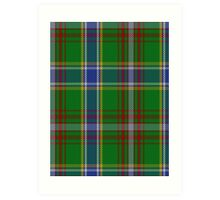 00372 Currie of Arran Clan/Family Tartan  Art Print