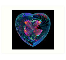 Rippled Heart Art Print