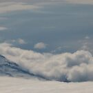 Active Aleutian Volcano (Panoramic) by Melissa Seaback