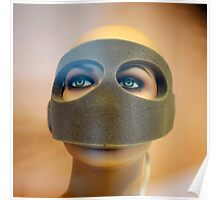 Portrait of a Masked Female Mannequin Poster