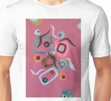 Boxes On Pink  Unisex T-Shirt