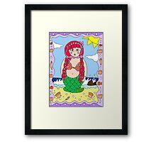 Mermaid doll Framed Print