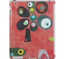 Tree On Red Waves iPad Case/Skin